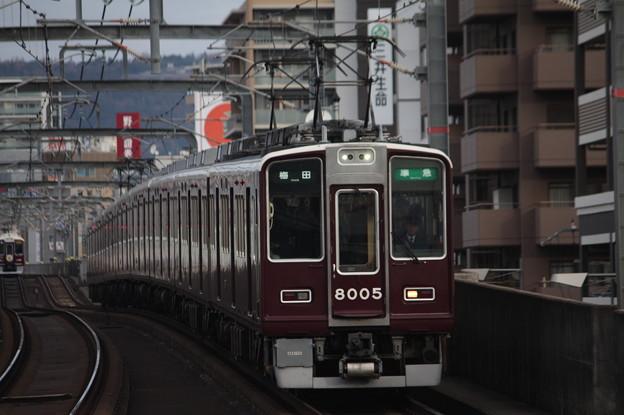 阪急宝塚線 8000系8005F 準急 阪急梅田 行