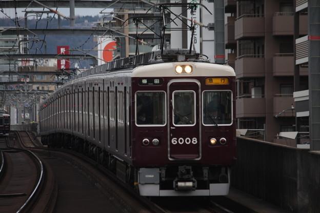 阪急宝塚線 6000系6008F 急行 阪急梅田 行
