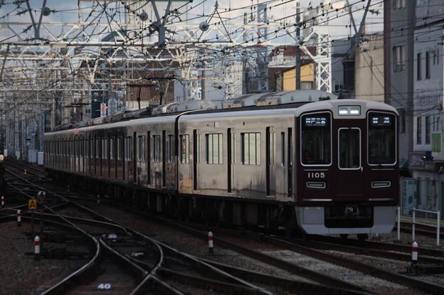 阪急神戸線 1000系1005F 普通 阪急神戸三宮 行