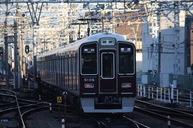 阪急神戸線 9000系9006F 普通 阪急梅田 行 (1)