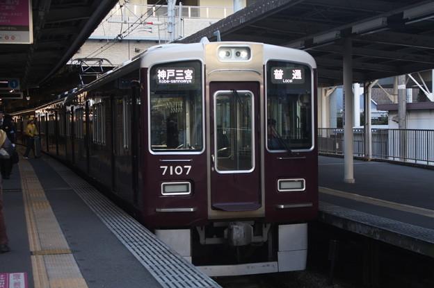阪急神戸線 7000系7007F 普通 阪急神戸三宮 行