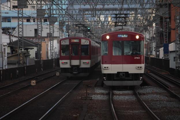 近鉄 1620系と3200系の離合