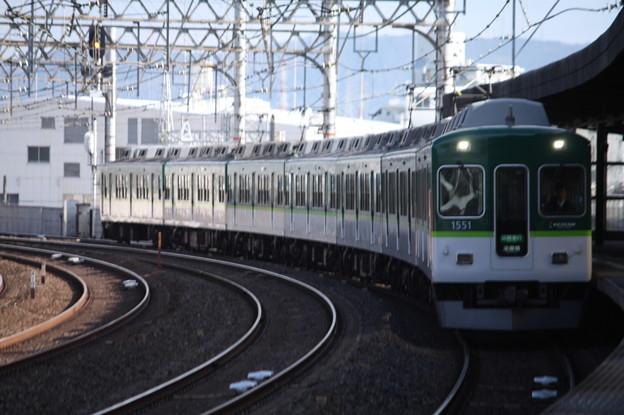 京阪本線 1000系1551F 区間急行 淀屋橋 行