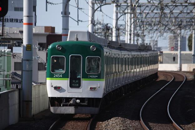 京阪本線 2400系2454F 普通 中之島 行