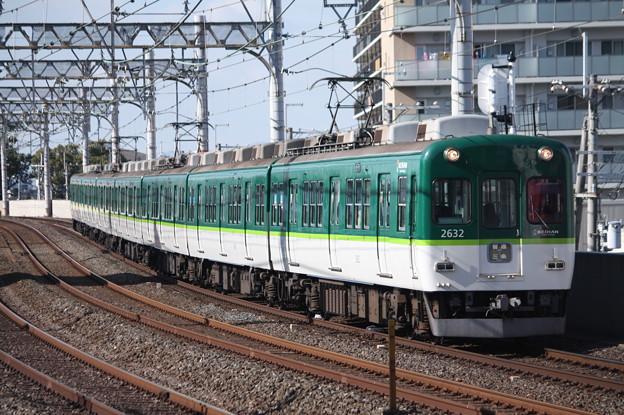 京阪本線 2600系2632F 普通 三条 行