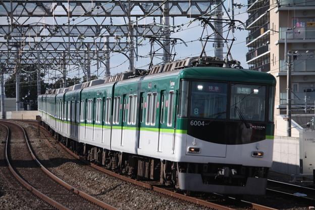 京阪本線 6000系6004F 特急 出町柳 行