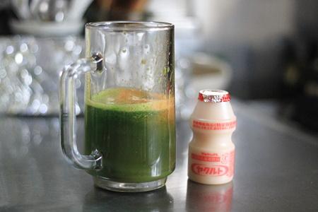 小松菜とにんじんのジュース