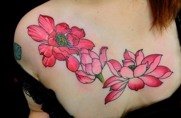 Photos: ハス Lotus tattoo