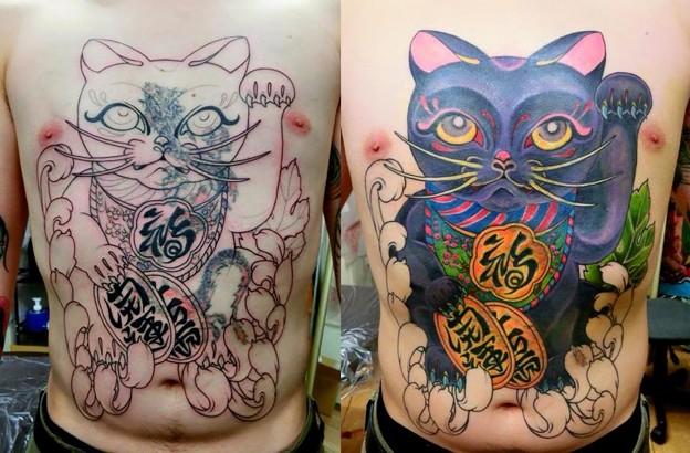Cover-upまねき猫タトゥー続き