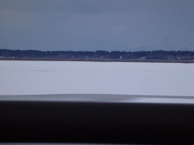 八郎潟残存湖 凍っていましたよ