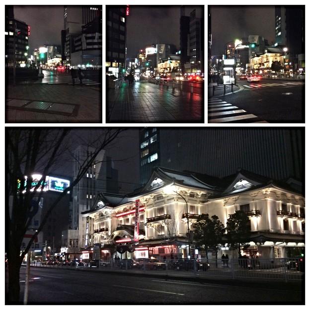 東劇から歌舞伎座へ