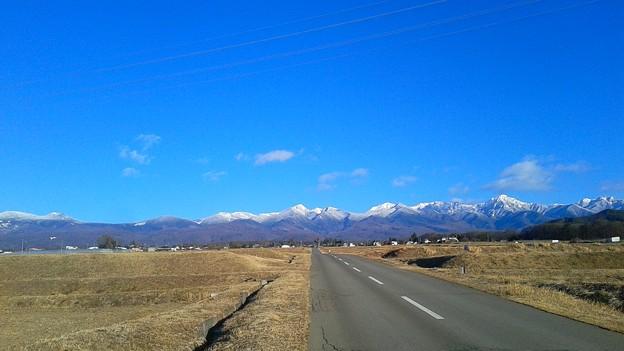 八ヶ岳も雪化粧、2018年01月03日15時撮影