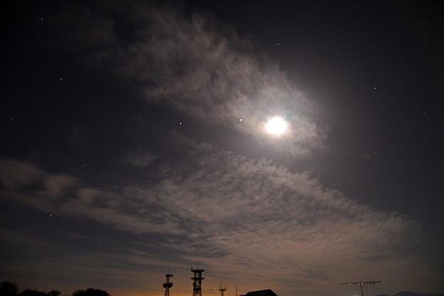 月夜の電波塔