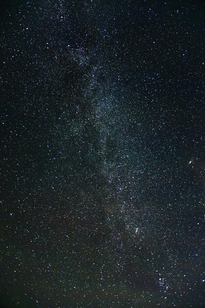 写真: 天の川撮影会 南東のカシオペア座と天の川