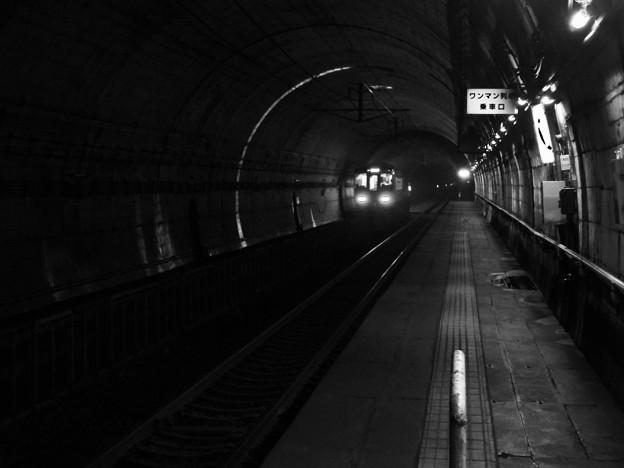 列車を見送り・・・