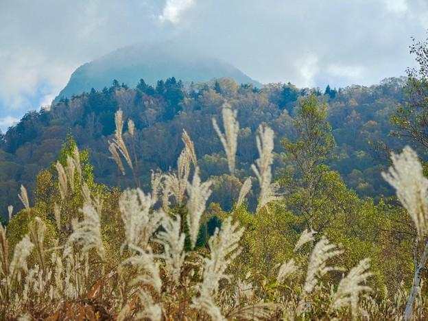 ホタル温泉からの笠ケ岳