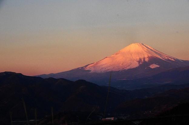 写真00039 朝日を受けた富士の山