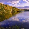 写真: 水源池・夕景
