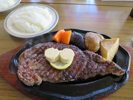 デンバー おすすめステーキセット スーパージャンボ(350g)¥2800