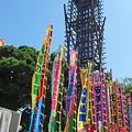 Photos: ノボリ旗と櫓太鼓