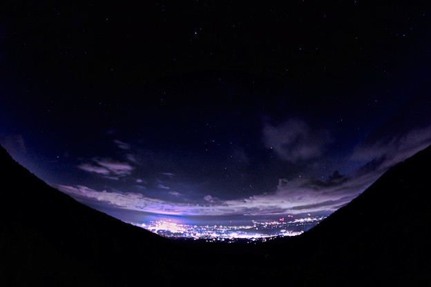 小諸夜景と夜空_3