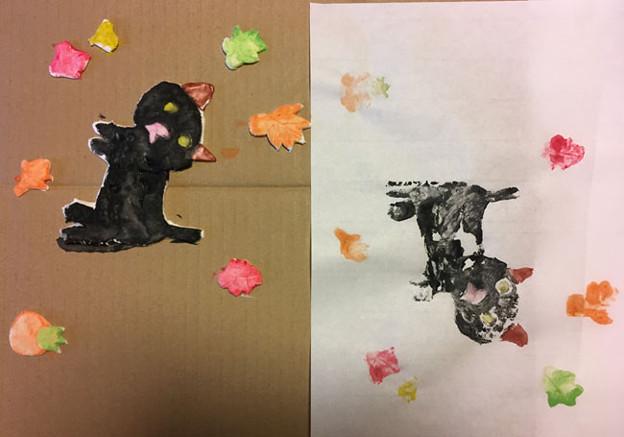 紙粘土版画