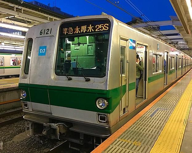 営団6000系 6121F 準急 本厚木行き 25S 新百合ヶ丘駅にて