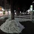 福島駅前の残雪