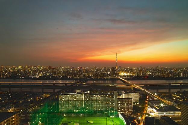 東京夜景(船堀タワーから)