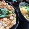 写真: 親子丼定食小