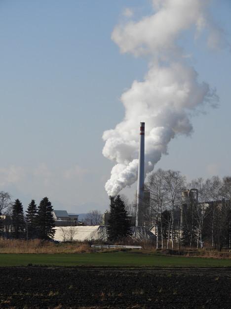 製糖工場の煙