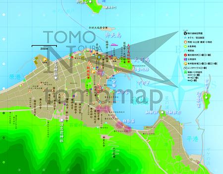 トモマップ拡大版(渋滞場所を表記)