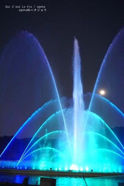 写真: 時之栖ウォーターバレー70mの水柱。