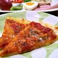 Photos: マルゲリータピザの朝食