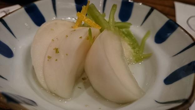 写真: かぶの柚子こしょう和え