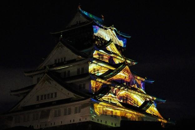 大阪城3Dマッピング