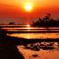 夕景 能登半島の海