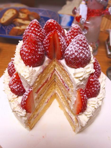 2段ケーキを作りましたです^^