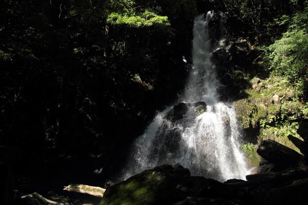 大滝のしぶき