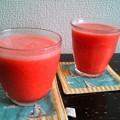 写真: スイカトマトジュース