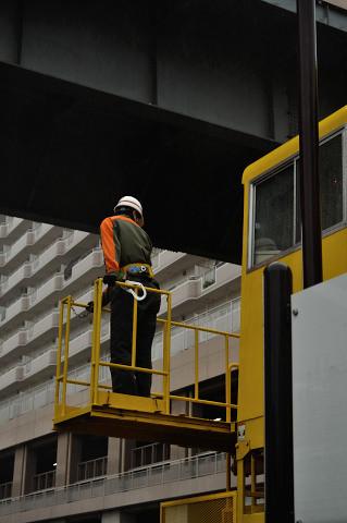 多摩モノレール 工作車作業実演