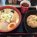 写真: 函館麺厨房あじさい チャーハンセット(味噌)