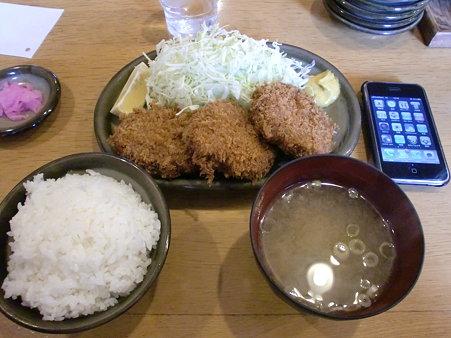 とんかつはららき円山店 メンチカツ定食
