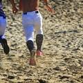 写真: 砂浜ダッシュ!