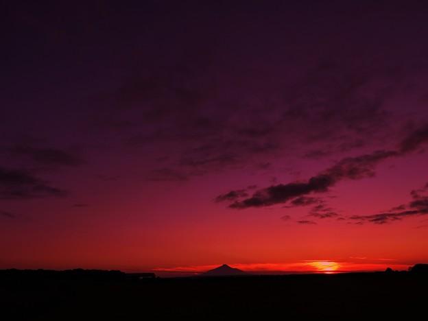 サロベツ原野の夕景