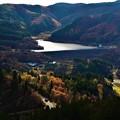 写真: ダムとスポットライト