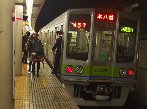 京王新線幡ヶ谷駅2番線 都営10-270F区急本八幡行き停止位置よし