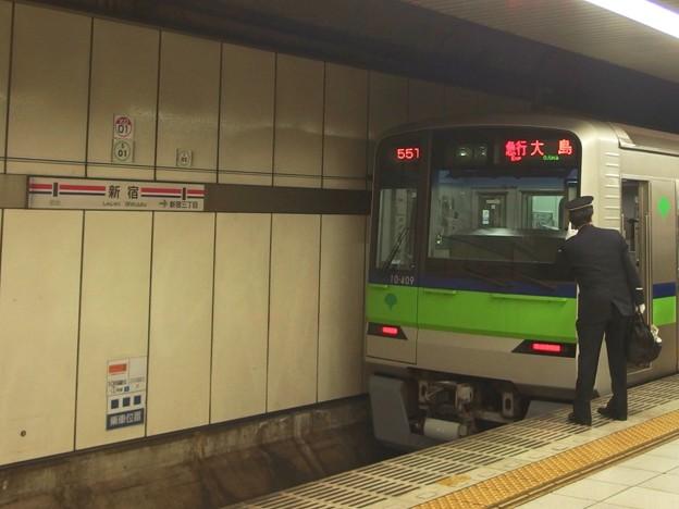 都営新宿線新宿駅5番線 都営10-400F急行大島行き表示確認