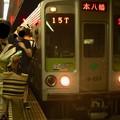 Photos: 都営新宿線篠崎駅2番線 都営10-250F急行本八幡行きラッシュ(2)