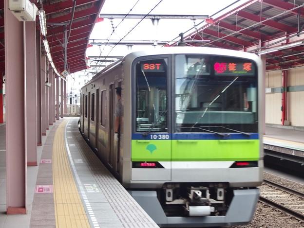 都営新宿線船堀駅1番線 都営10-380F急行笹塚行き前方確認(2)